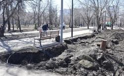 Работы в сквере Гагарина обещают завершить к середине лета