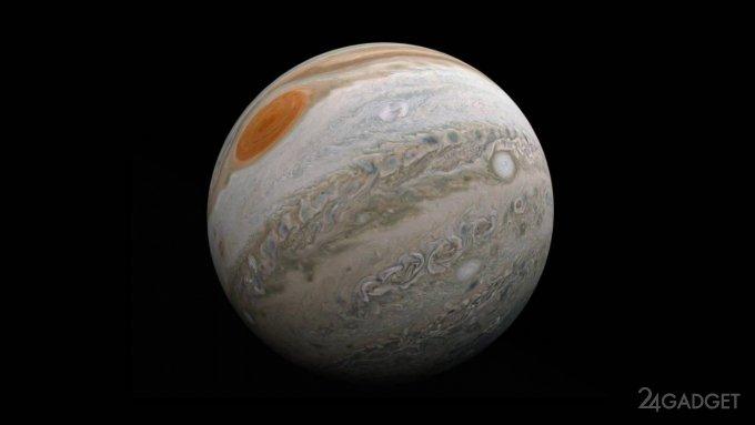 Ученый сделал видео полета над Юпитером из фотографий аппарата NASA Juno (видео)