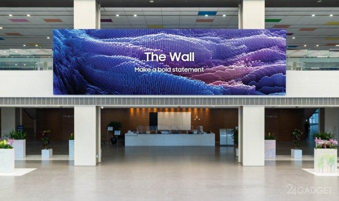 Samsung презентовала обновленную модель модульного телевизора The Wall 2021 с частотой обновления 120 Гц (3 фото)