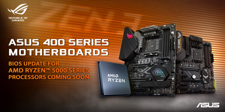 ASUS пообещала наделить платы на AMD B450 и X470 поддержкой Ryzen 5000 уже через пару недель