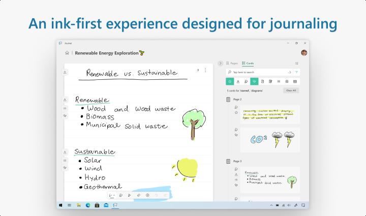 Microsoft анонсировала новое приложение Journal для Windows 10