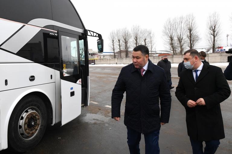Новая модель пассажирских перевозок начнет действовать в четырех районах Тверской области с июля