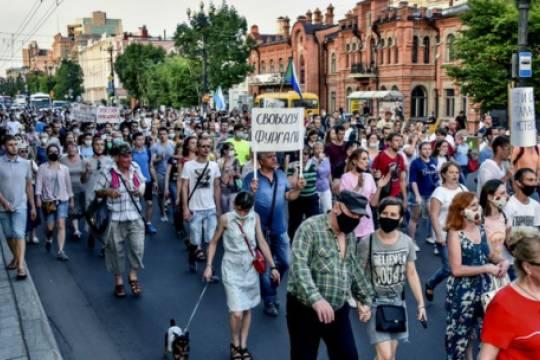 В Хабаровске прошли новые митинги в поддержку Фургала