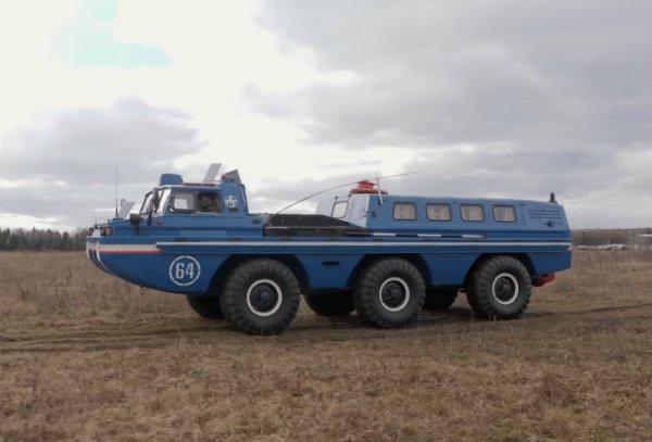 «Сесть бы в эту машину и уехать на ней назад в СССР»: В сети оценили вездеход ЗИЛ-49061 «Синяя Птица»