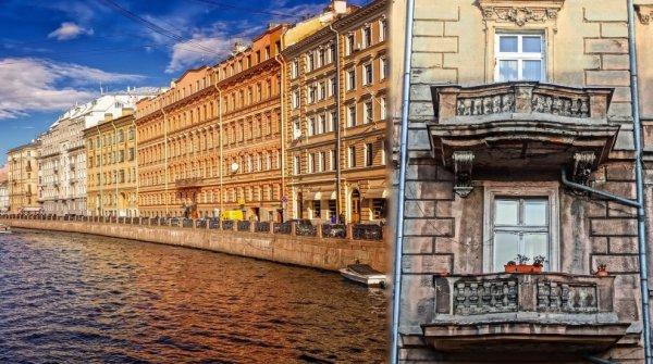 В Петербурге рухнули несколько балконов жилого дома