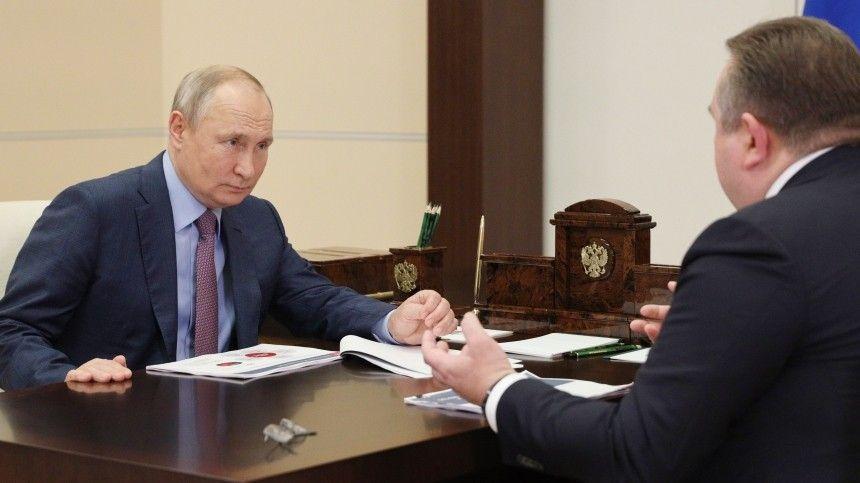 Путин провел совещание с главой ОСК Рахмановым