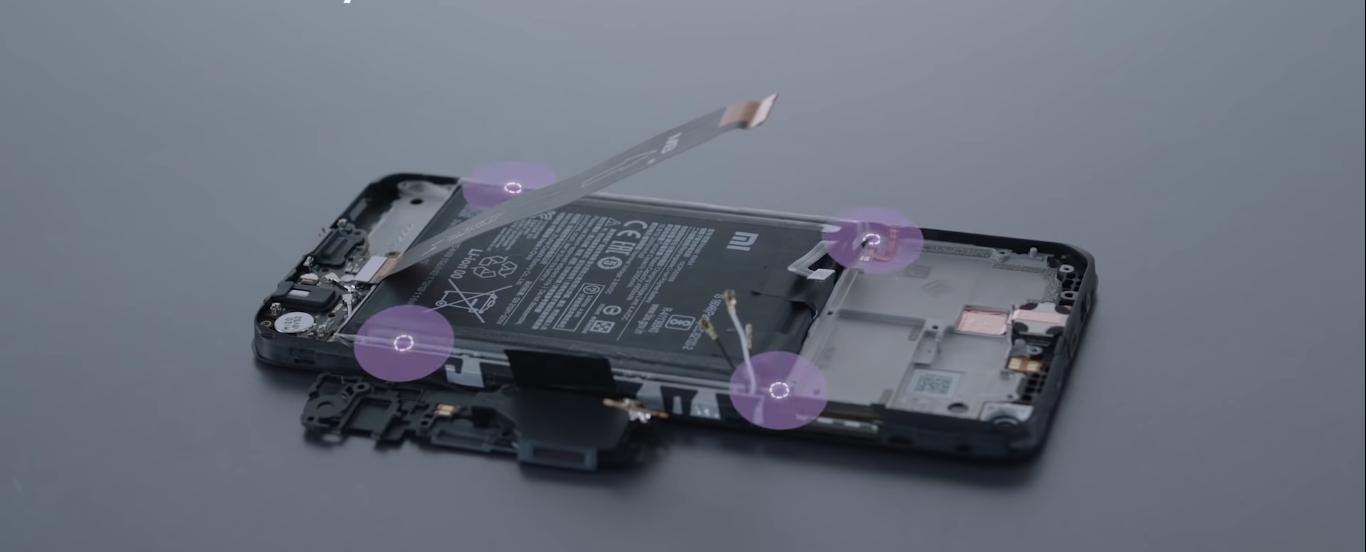 Xiaomi показала недорогой Redmi Note 9T изнутри