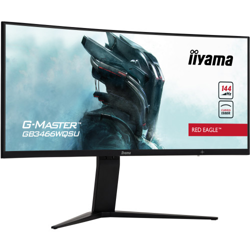34-дюймовый игровой VA-монитор iiyama G-Master GB3466WQSU-B1: изогнутый UWQHD-экран с частотой обновления 144 Гц, поддержка HDR, AMD FreeSync Premium Pro и Nvidia G-Sync Compatible