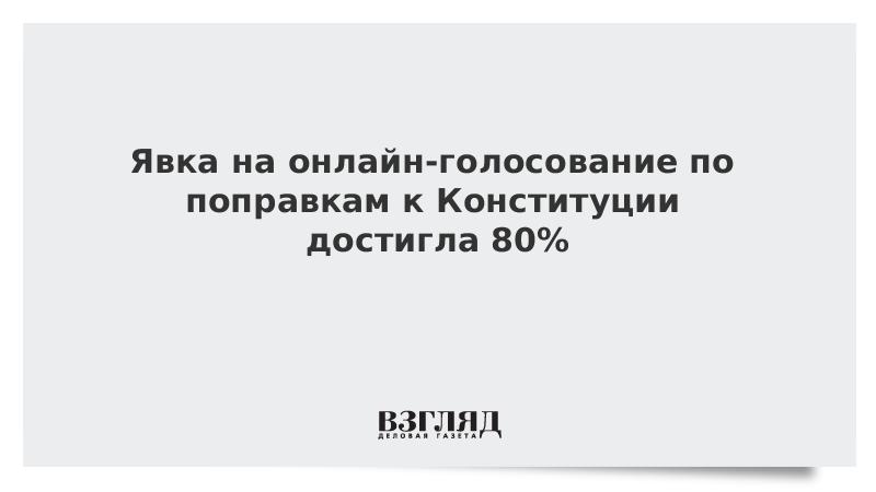 Явка на онлайн-голосование по поправкам к Конституции достигла 80%