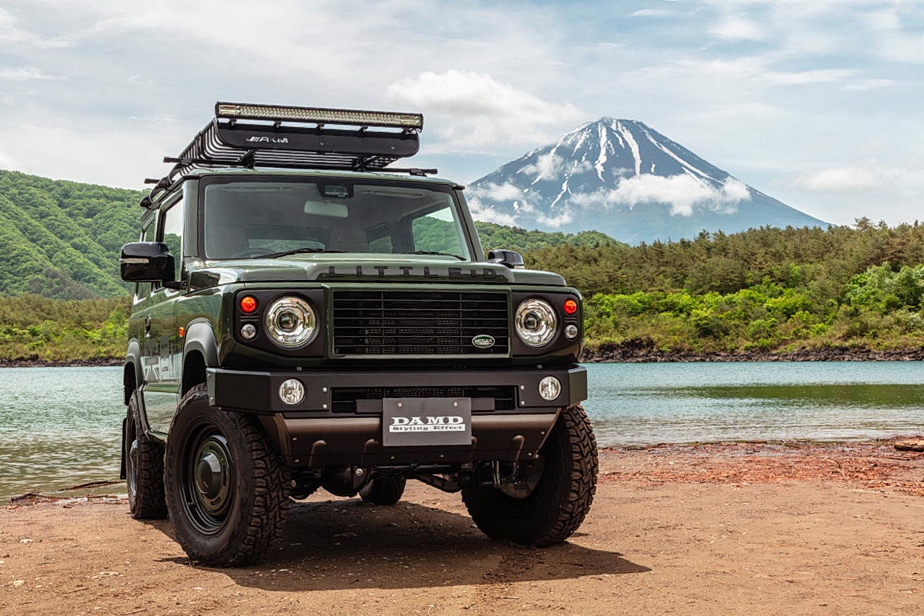 Посмотрите, как искусно Suzuki Jimny замаскировали под Land Rover Defender