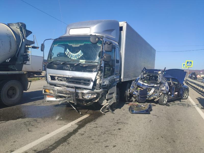 В Приморье в результате серьезной аварии пострадала пятилетняя девочка